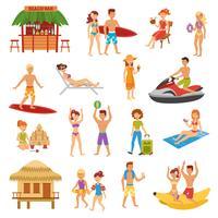 Set spiaggia piatta