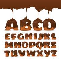 Manifesto della raccolta dei biscotti di alfabeto di cioccolato di fusione vettore