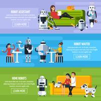 Insegne orizzontali di intelligenza artificiale vettore