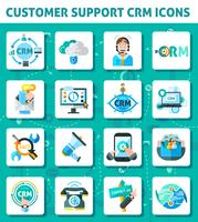 Set di icone di supporto clienti vettore