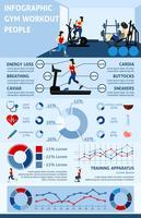 Infographics di allenamento di palestra vettore