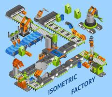 concetto di robot industriale vettore
