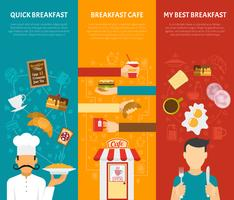 Set di banner verticale colazione