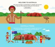 Benvenuto in Australia Banners vettore