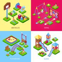 Set di immagini del parco giochi 2x2