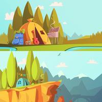 Set di banner escursionistici