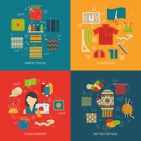 Set di concetti tessili