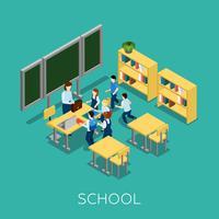 Scuola e illustrazione di apprendimento