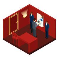 Casino e gioco d'azzardo illustrazione isometrica vettore