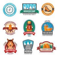 Set di emblema escursionistico