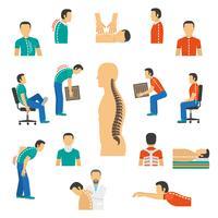 Diagnosi e malattie della colonna vertebrale di trattamento vettore