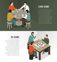 Insieme orizzontale dell'insegna dei giochi da tavolo vettore