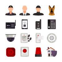 Icone di sicurezza domestica vettore
