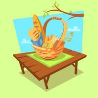 Concetto di cartone animato di panetteria vettore
