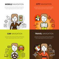 Concetto di design di navigazione vettore