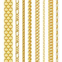 Set di catene d'oro vettore