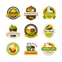 Emblemi della fattoria dell'alimento biologico