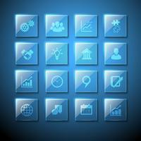 Icone della lastra di vetro dei segni di web