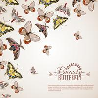 Sfondo realistico di farfalla