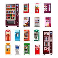 Set di icone di distributori automatici vettore