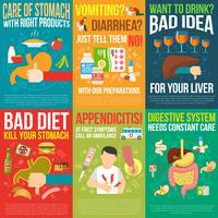 set di poster di digestione vettore