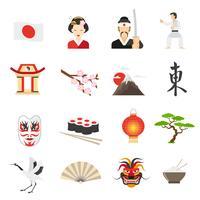 Set di icone del Giappone