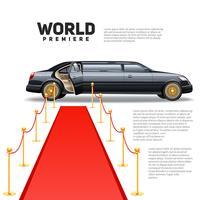 immagine colorata limousine tappeto rosso