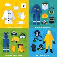 Attrezzature protettive uniformi vettore