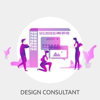 Progettazione concettuale dell'illustrazione del consulente di progetto vettore