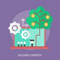 Progettazione concettuale dell'illustrazione di crescita di affari vettore