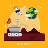 Mars rover design illustrazione concettuale