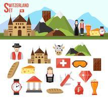 Set di simboli della Svizzera vettore