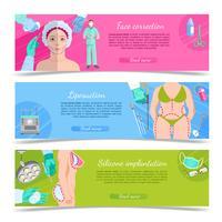 Set di banner di chirurgia plastica vettore
