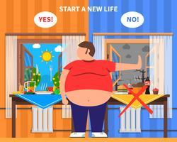 Composizione del design dell'obesità vettore