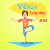 Set di allenamento yoga vettore