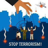 Fermare l'illustrazione del terrorismo vettore