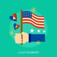 4 luglio celebrano la progettazione dell'illustrazione concettuale