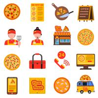 Set di pizze colorate