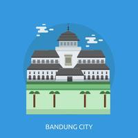 Disegno concettuale dell'illustrazione della città di Bandung