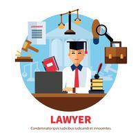Avvocato giurista legale illustrazione esperta vettore