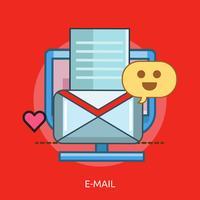 Progettazione concettuale dell'illustrazione di progettazione concettuale dell'e-mail vettore