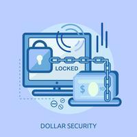 Progettazione concettuale dell'illustrazione di sicurezza di Yen