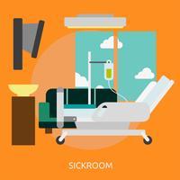 Disegno dell'illustrazione concettuale dello Sickroom