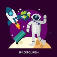 Progettazione concettuale dell'illustrazione di Spacetourism vettore