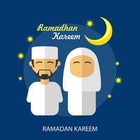 Progettazione dell'illustrazione concettuale di Ramadhan Kareem