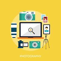 Progettazione concettuale dell'illustrazione di fotografia vettore