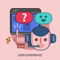 Progettazione dell'illustrazione concettuale di esperienza dell'utente vettore