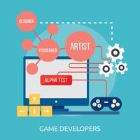 Progettazione concettuale dell'illustrazione degli sviluppatori del gioco vettore