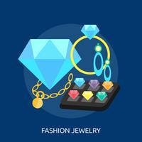 Progettazione concettuale dell'illustrazione dei gioielli di modo vettore