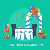 Progettazione dell'illustrazione concettuale della decorazione di compleanno